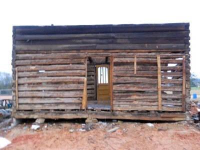 Antique Log Cabin Circa 1800s Hand Hewn Hemlock Beams 22