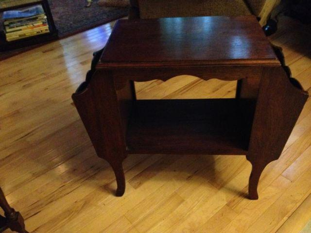 Antique Magazine End Table