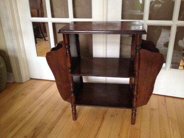 Antique Magazine Side Table