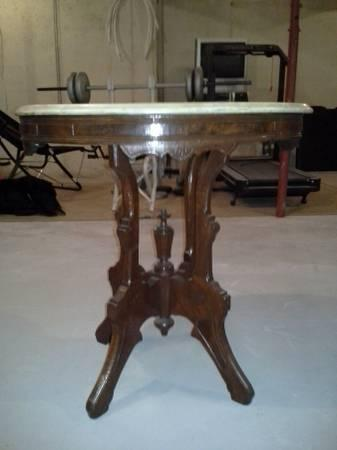 Antique Marble Top Parlor Table 200