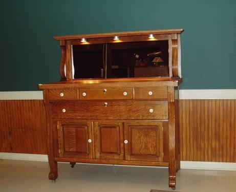 Antique Mission Oak Sideboard Server Buffet For Sale In