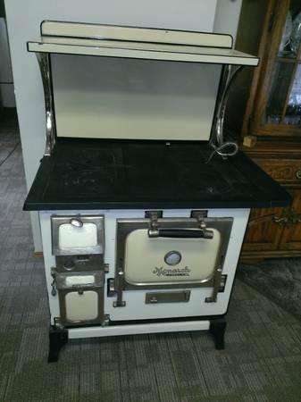 Antique Monarch Malleable Wood Coal Cook Stove Range Oven