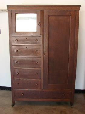 Antique Oak Armoire Late 1800s For Sale In Columbia