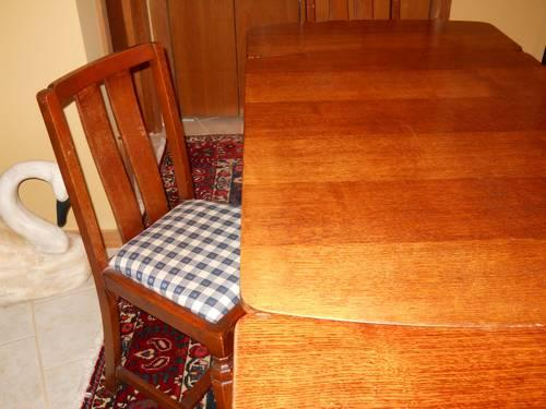 Antique Oak Draw Leaf Dining Table Amp 4 Chairs Jacobean