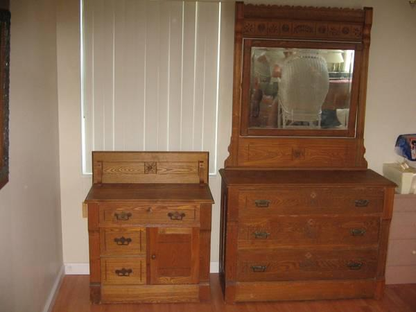 Antique Oak Dresser And Dry Sink For Sale In Jensen