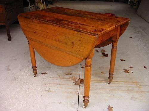 Antique Oak Drop Leaf Kitchen Table For Sale In Concord Ohio