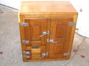 Antique Oak Ice Box Seaside For Sale In Monterey