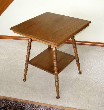 Antique Oak Parlor Table For Sale In Littleton Maine