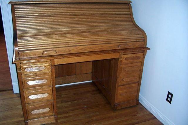 Antique Oak Roll-Top Desk