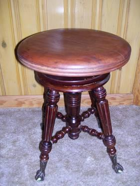Antique Organ Piano Stool For Sale In Liberty Township