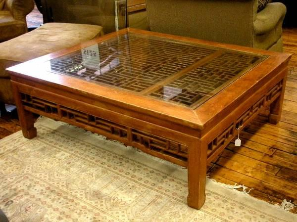 Antique oriental screen coffee table for sale in for Antique chinese tables for sale