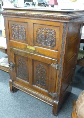 Antique Pilgrim Oak Ice Box   $550