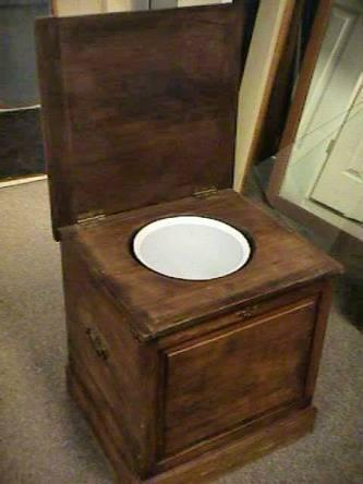 Antique Potty Chair Toilet Chamber Pot