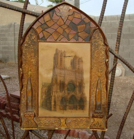 Antique Printing Of Notre Dame In Medieval Body For Sale