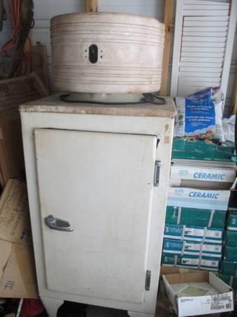 Antique Refrigerator Vintage Appliance - $425