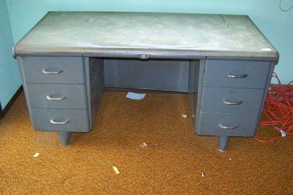 antique republic steel office desk for sale in