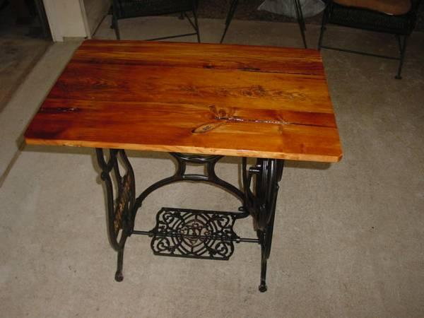 ANTIQUE REPURPOSED SEWING MACHINE TABLE   $75