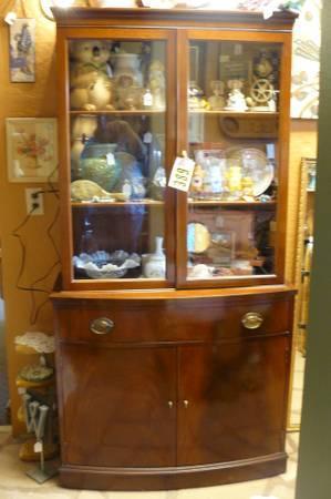 Antique Rockford, IL Republic Furniture CHINA Cabinet 70x36 PINE, AZ - $389