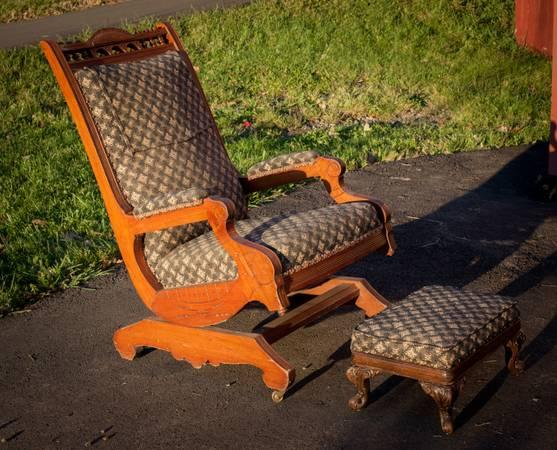 Antique Rocking Chairs Painted Ladder Back