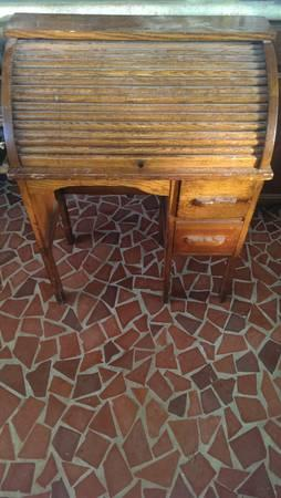 Antique Roll top childrens desk - $300