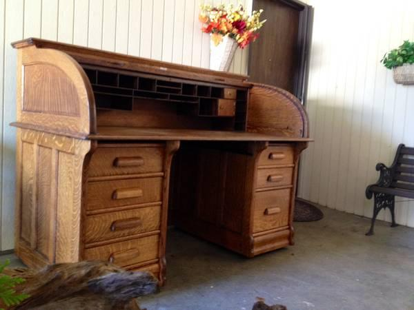 Antique Roll Top Desk - $2500