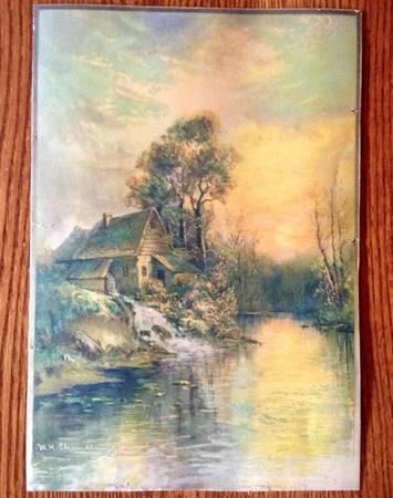 Antique Sawmill W.H. Chandler Pastel painting - $99