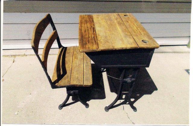 Phenomenal Antique School Desk Interior Design Ideas Ghosoteloinfo