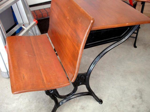 Groovy Antique School Desk With Ink Well Cast Iron Legs For Sale In Download Free Architecture Designs Xoliawazosbritishbridgeorg