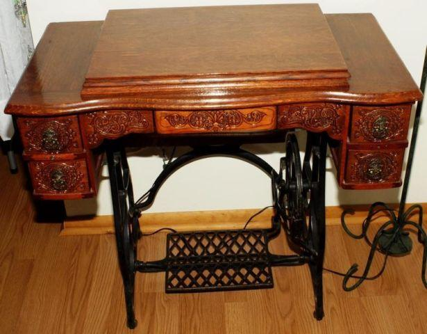 antique sewing machine and cabinet singer for sale in camano island washington classified. Black Bedroom Furniture Sets. Home Design Ideas