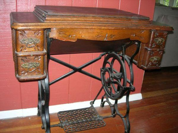 Antique sewing machine end table working condition brighton antique sewing machine end table working condition sciox Gallery