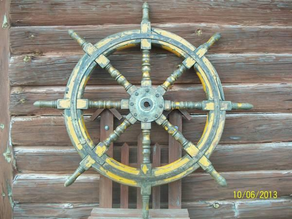 Antique Ships Wheel With Original Paint For Sale In