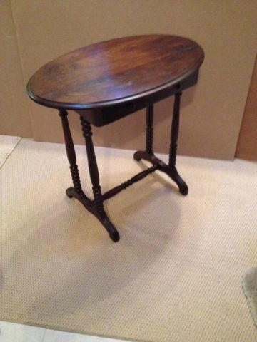 Antique Side Table with a Drawer