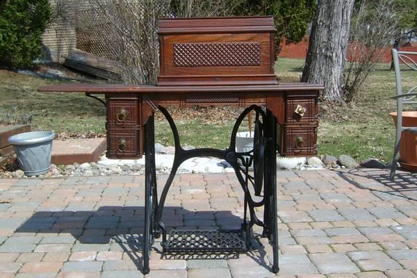 antique sewing machine treadle