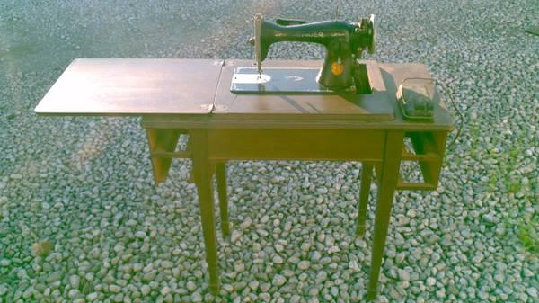 antique Singer Sewing Machine with stand Delivery available  - $20