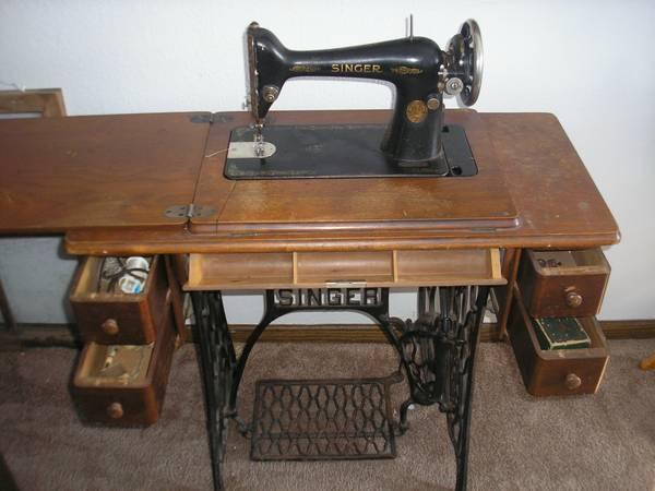 Antique Singer Treadle Sewing Machine For Sale In Fall Branch Interesting Antique Singer Sewing Machine In Cabinet For Sale