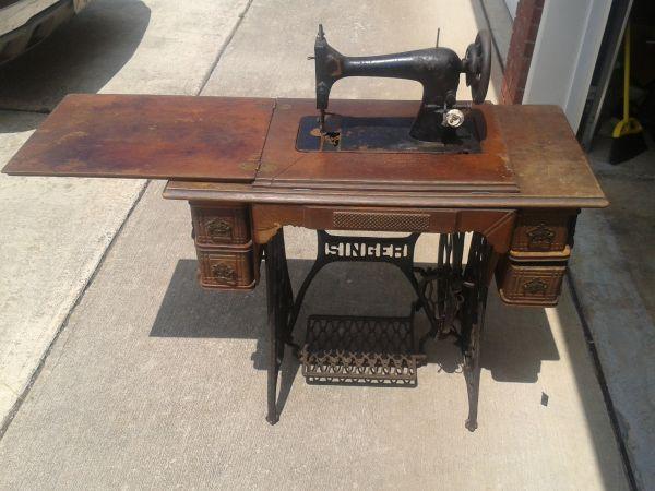 antique singer treadle sewing machine for sale