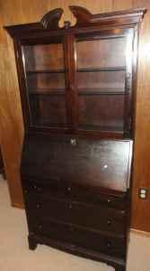 Antique Skandia Furniture Co Wooden Desk Hutch W Shelves