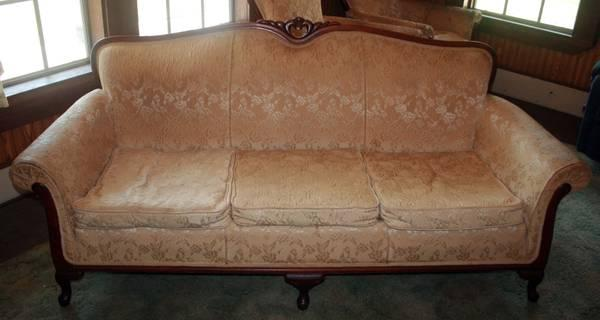 ANTIQUE SOFA AND CHAIRS - $375