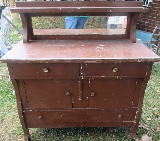 Antique Solid Oak Buffet With Top Shelf Mirror Project