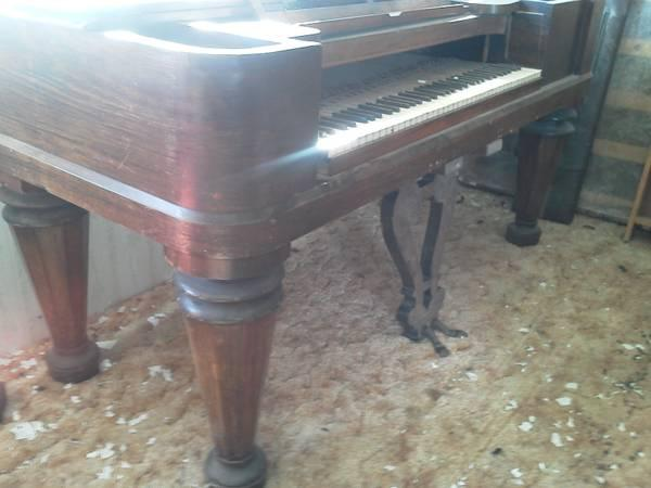 Antique Square Grand piano Or Table or Desk project - $250