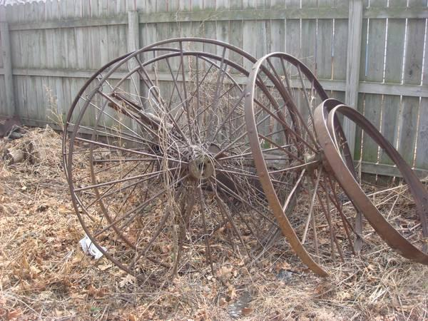 ANTIQUE STEEL WHEELS