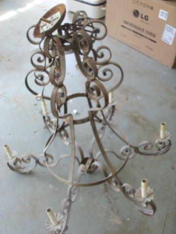 Antique Style WROUGHT IRON CHANDELIER