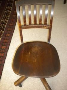 Antique Swivel Oak Desk Chair Murphy Chair Co For Sale In