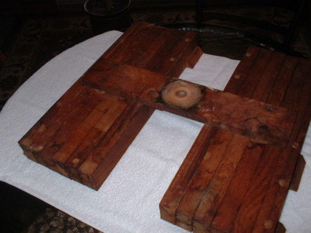 Antique table top extension brackets