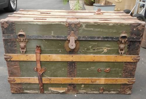 Antique Travel Trunk Vintage Luggage
