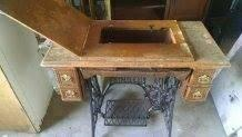 Antique treadle singer sewing machine table - $150