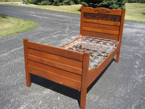 Antique Twin Bed wOriginal Rails - $80
