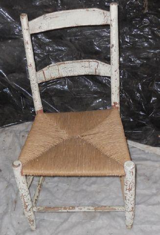 Antique unfinished shabby chic chair