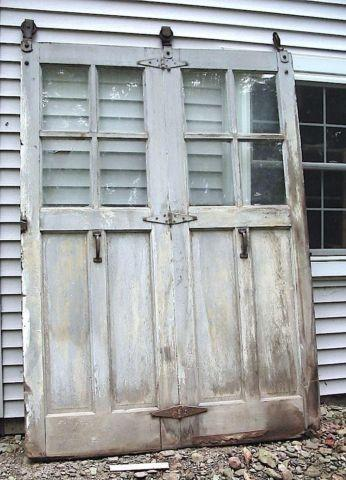 Antique Unique 7 1 2 Foot Tall Glass Window Sliding Barn