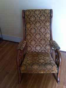 Antique Upholstered Rocking Chair 30 40 S Depew Village
